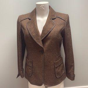 Ellen Tracy Brown Blazer with Pockets. Size 14